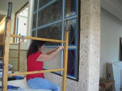 old fashion window putty glazed installations