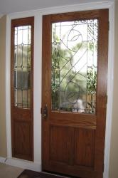 bay harbor leaded beveled glass door