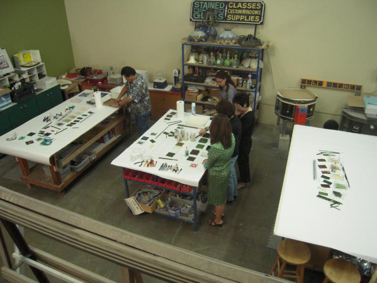 Fused glass studio parties