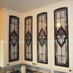 cabinet door beveled stained glass